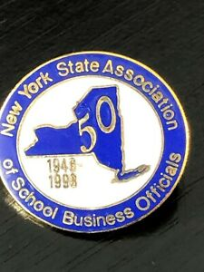 Vintage Collectible New York State Assoc Bus Officials Metal Pinback Pin Back