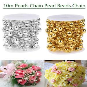 10m-32-80ft-Perle-Catena-Perla-Perline-Catena-Fiore-Ghirlanda-Festa-Matrimonio-Decor