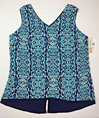 bad731354f8cb8 Como Vintage Women's Sleeveless Shirt Blouse Dressy Tank Top Plus Size 1X  2X 3X