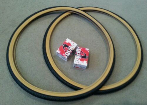 2 TWO 37-590 TUBES 2 BICYCLE GUM WALL TIRES /& DURO 26 x 1 3//8