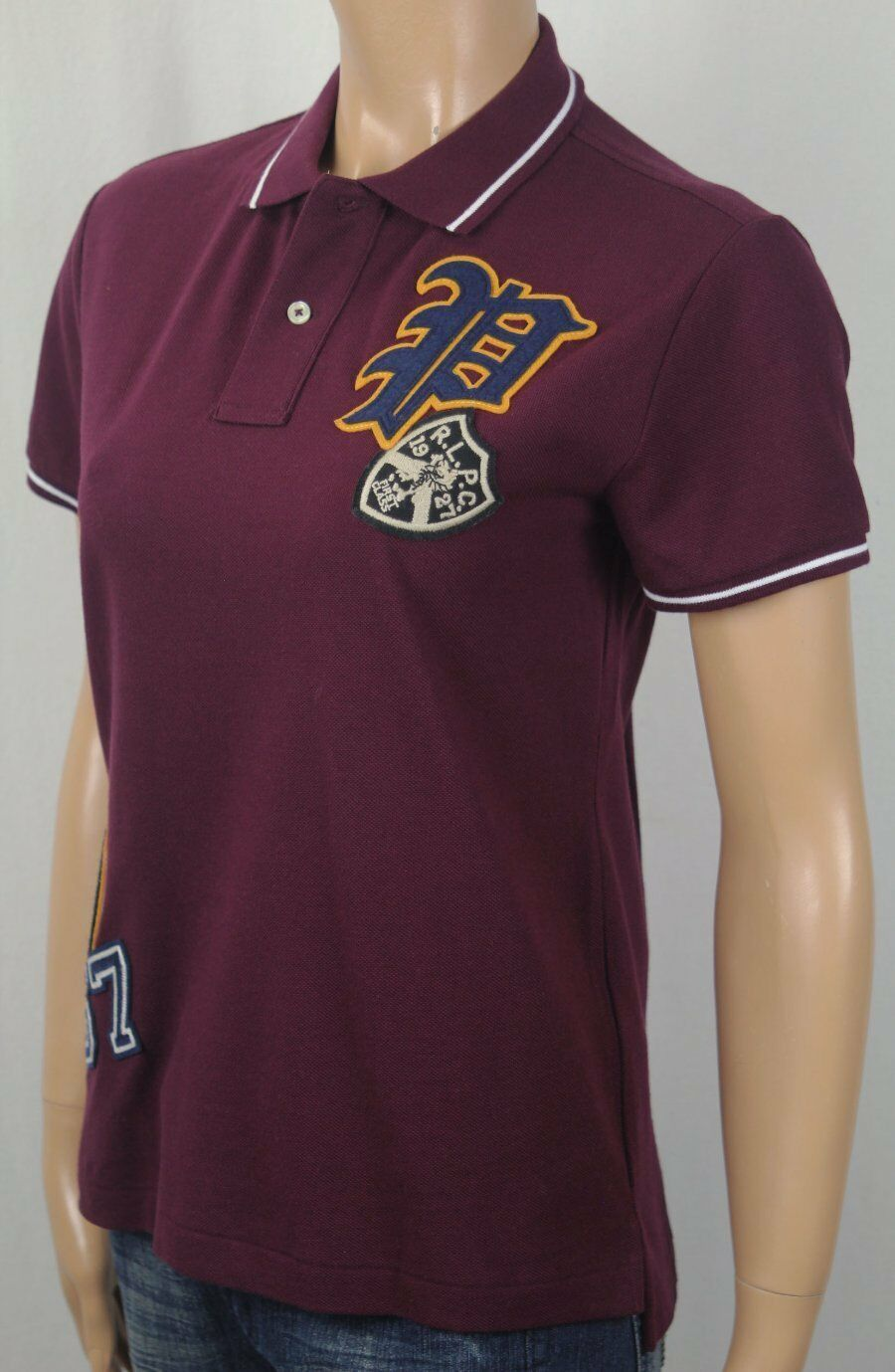 Polo Ralph Lauren Burgundy Classic Fit Varsity Shirt NWT