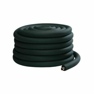 "AC BLACK FOAM TUBE AIRCON PIPE FIRE RATED INSULATION 2M 1 1//8/"" I.D X 1//2/"" WALL"