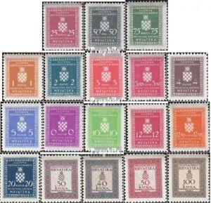 Kroatien-D1-D18-kompl-Ausg-postfrisch-1942-Dienstmarken