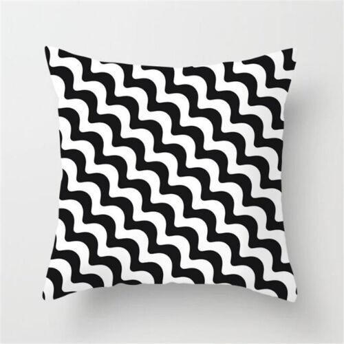 Geometric Black /& White Throw Pillow Case Waist Cushion Covers Home Waist Decor