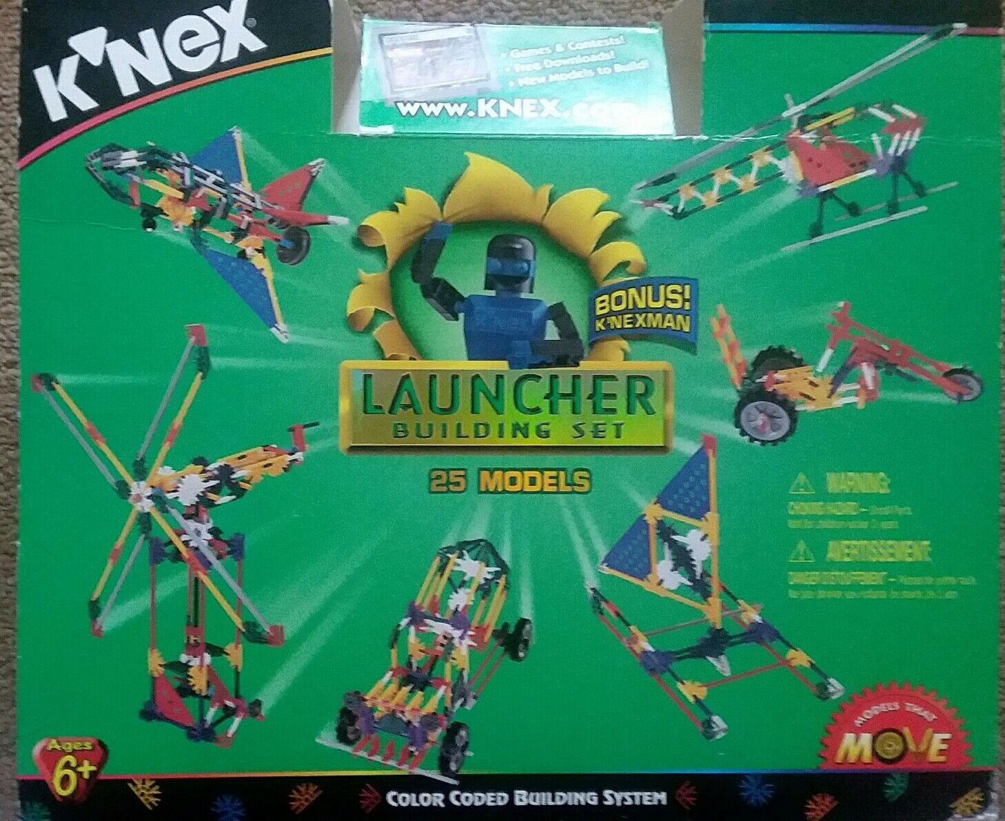 K'nex Millennium Edition Launcher Set Builds 25 Models 13043 Yellow Case Parts