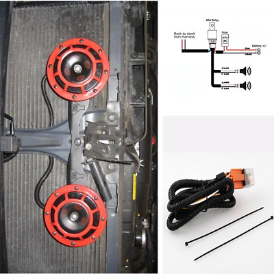 12V Horn Wiring Harness Kit Fit Vehicle Grille/Grill Mount ... A Supertone Horn Wiring Harness on