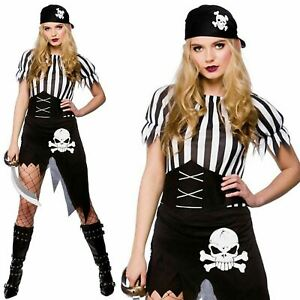 Pirate-Costume-Ladies-Adults-Caribbean-Wench-Fancy-Dress-Accessory-Womens-Outfit