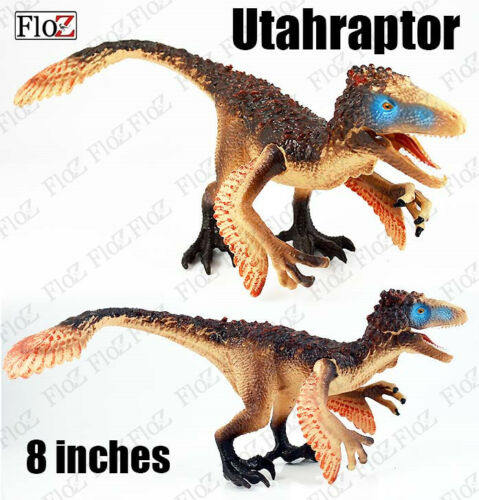 Floz Dinosaurs 2017 New Utahraptor feathered raptor figure 8 inches figure model