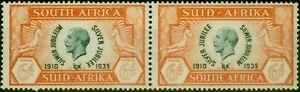 South-Africa-1935-6d-Green-amp-Orange-SG68a-Cleft-Skull-Fine-Lightly-Mtd-Mint