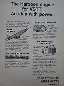 Details about 2/1975 pub teledyne cae turbine engines j402 turbojet engine  vstt missile ad- show original title