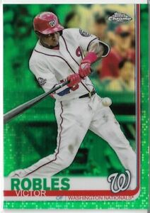 2019-Topps-Chrome-Baseball-Green-Refractor-Parallel-Victor-Robles-93-99