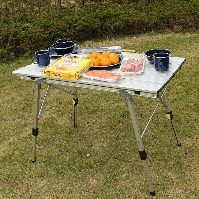 Aluminum Folding Table Camping Lightweight Durable Portable Party Picnic Outdoor