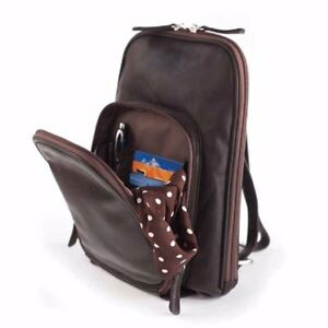 9b24e15d4324 Osgoode Marley Womens Raisin Brown Leather Small Organizer Backpack ...