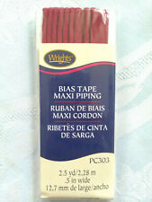 Wrights Maxi Corded Piping Red Bias Tape 2 12 Yards x 12
