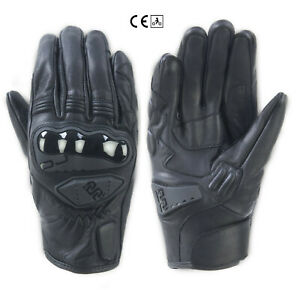 Guanti-pelle-moto-Oj-Rave-nero-leather-black-gloves