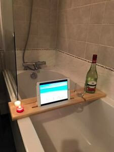 Wooden Bath Board Bath Bridge Bath Caddy Bath Rack Bathroom Wine ...