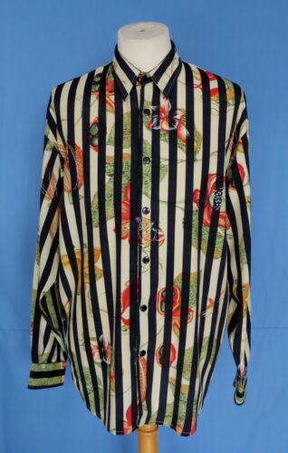 hombre France Rayon floral larga Le Camisa manga multicolor para M Garage Estampado R8TxxnXB