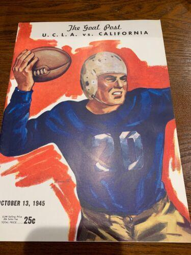 """1945 Ucla Vs California Football Program """"the Goal Post"""""""