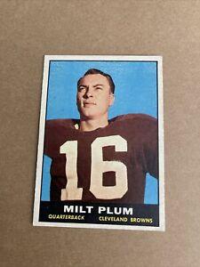 1961 Topps Football Card Milt Plum #68 -Cleveland Browns