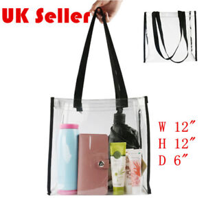 Women-039-s-PVC-Clear-Transparent-Shoulder-Bag-Tote-Jelly-Candy-Summer-Beach-Handbag