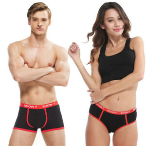 d7612f79fc8b Image is loading Couple-Shorts-Briefs-Boxers-Underwear-Love-heart-Printed-