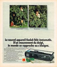 PUBLICITE ADVERTISING 024   1975   KODAK  télé-instamatic  appareil photo
