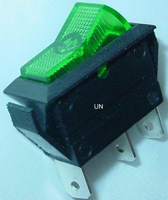 EIN//AUS 12V//20A Wippenschalter grüne Wippe S10 Einbauschalter einpolig