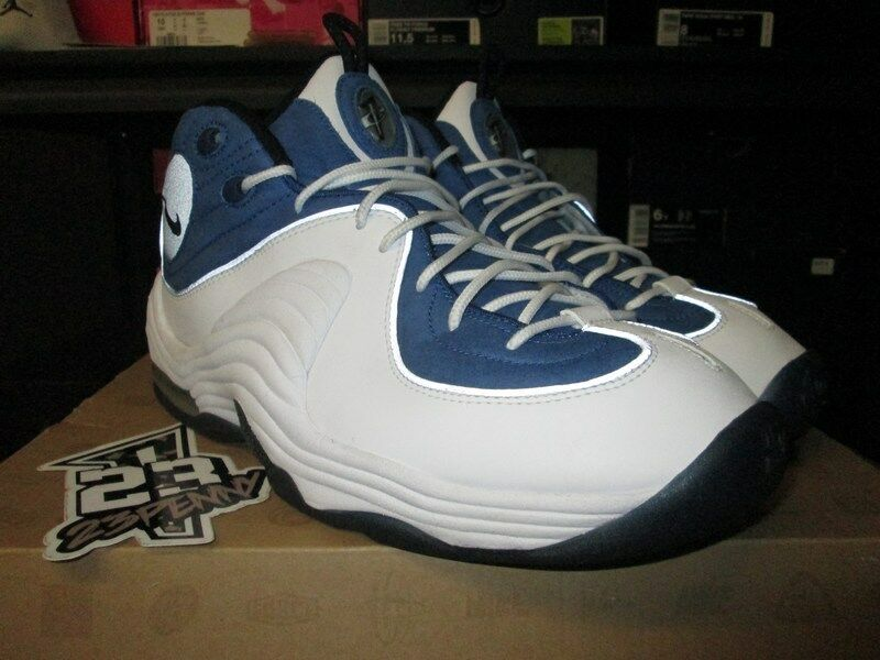 SALE NIKE AIR PENNY II 2 ATLANTIC BLUE WHITE SILVER 333886 401 Price reduction The latest discount shoes for men and women