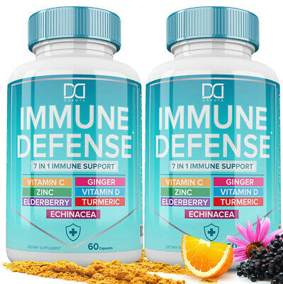 7 in 1 Immune Support Booster Supplement with Elderberry Vitamin C and Zinc NEW eBay