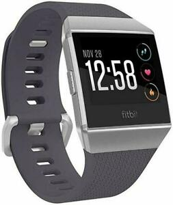 Fitbit-IONIC-Smartwatch-Bluetooth-GPS-Activity-Tracker-Gray-Silver-Brand-New