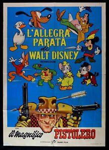 Manifesto L'Allegra Parademarsch Walt Disney Traumhaftes Gunfighter Mickey M68