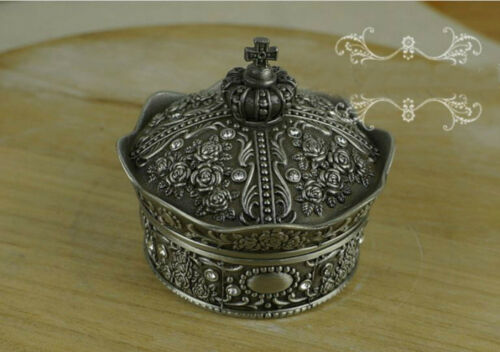 Vintage jewellery box Organizer Ring Necklace Earring Storage Case gift box