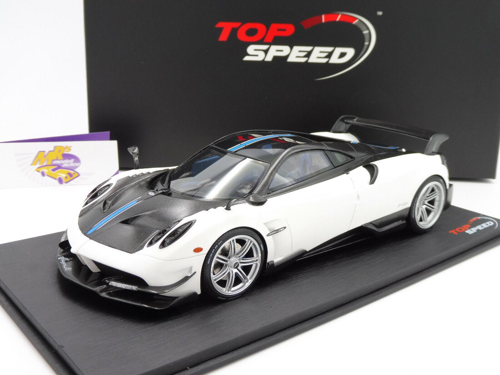 Top Speed TS0099   Pagani Huayra BC Genfer Autosalon 2016 in   mattweiß   1 18