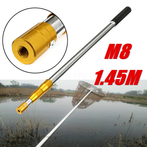 Gold Ring M8 Prong Harpoon Spear Gun Gig Rod Fish Frog Salmon Barbed 145CM