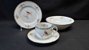 MZ-Altrohlau-Czechoslovakia-Bread-amp-Butter-Plate-Cereal-Bowl-Cup-amp-Saucer