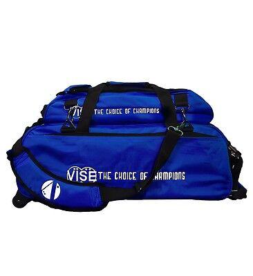 b152b108abc6 Vise 3 Ball Tote Bowling Bag with Shoe Pocket Blue | eBay