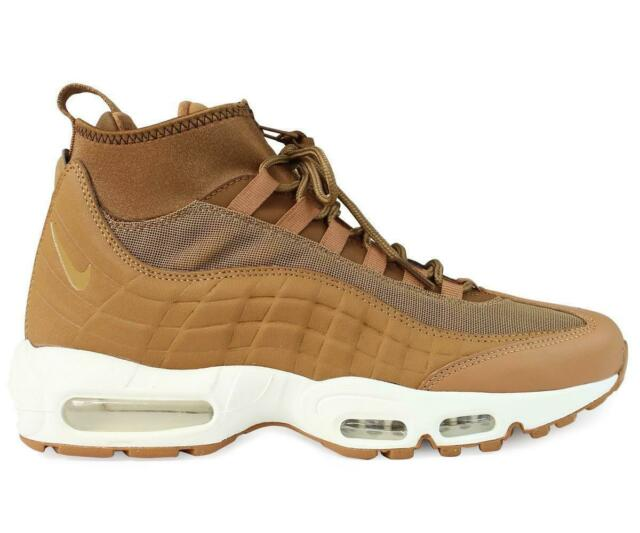 31f3bce16339f6 Mens Nike Air Max 95 Sneakerboot Leather   Mesh Tan Shoes Trainers ...