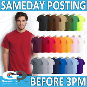 GILDAN-Ultra-T-shirt-100-Cotone-Bianco-Uomini-Donne-Adulto-Tee-Scuola-Lavoro-Top-2000