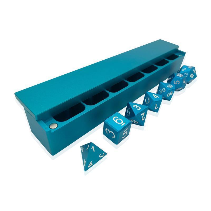 calidad de primera clase Mar verde verde verde Azulado precisión CNC Aluminio dice Set Con Dados Vault  Tienda de moda y compras online.
