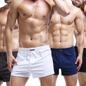 Intimo-Uomo-Solido-Colore-Boxer-Pantaloncini-Sports-Casual-Casa