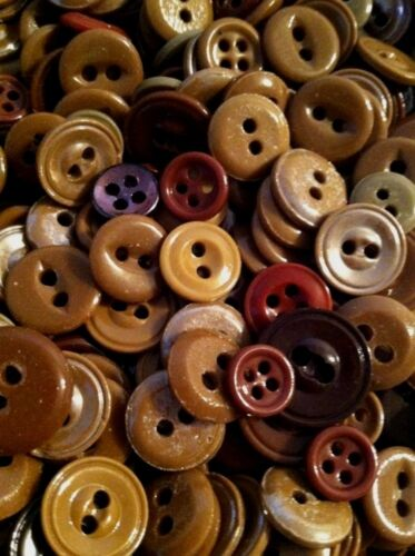 "ANTIQUE~VINTAGE CHINA BUTTONS /""SHADES OF BROWN/""   ⭐️ ⭐️  LOT OF 150"