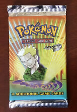 Pokemon Wotc Factory Sealed Unweighted Gym Heroes Booster Pack