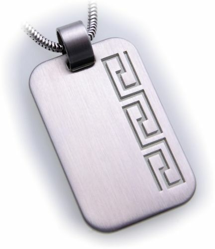 Pendant Engraving plate made of stainless steel incl. engraving