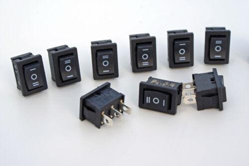 2 Stück Mini  Wippschalter E A E Wippenschalter 250V//3A Snap in Montage 1polig