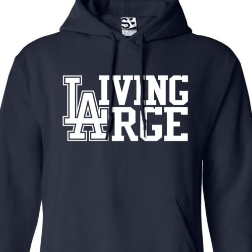 HOODIE Hooded Los Angeles Sports Sweatshirt All Sizes Colors Living Large L.A