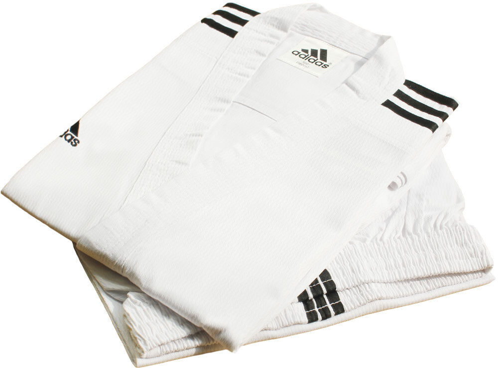 Adidas Champion 3-stripe White Open Dobok Uniform TaeKwonDo Karatedo