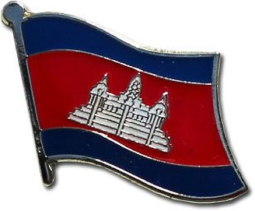 Wholesale Pack of 12 Cambodia Country Flag Bike Hat Cap lapel Pin