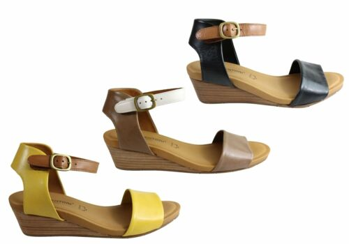 Gino Ventori Replay Womens Leather Wedge Sandals Made In Brazil ShopShoesAU