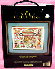 New 1993 Dimensions Gold Antique Bear Collectibles Counted Cross Stitch Kit RARE