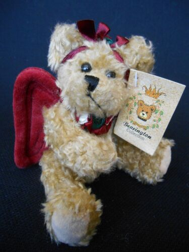 BEARINGTON COLLECTION ANGEL BEAR BURGUNDY WINGS  GABRIELLE  6 JOINTED NWT